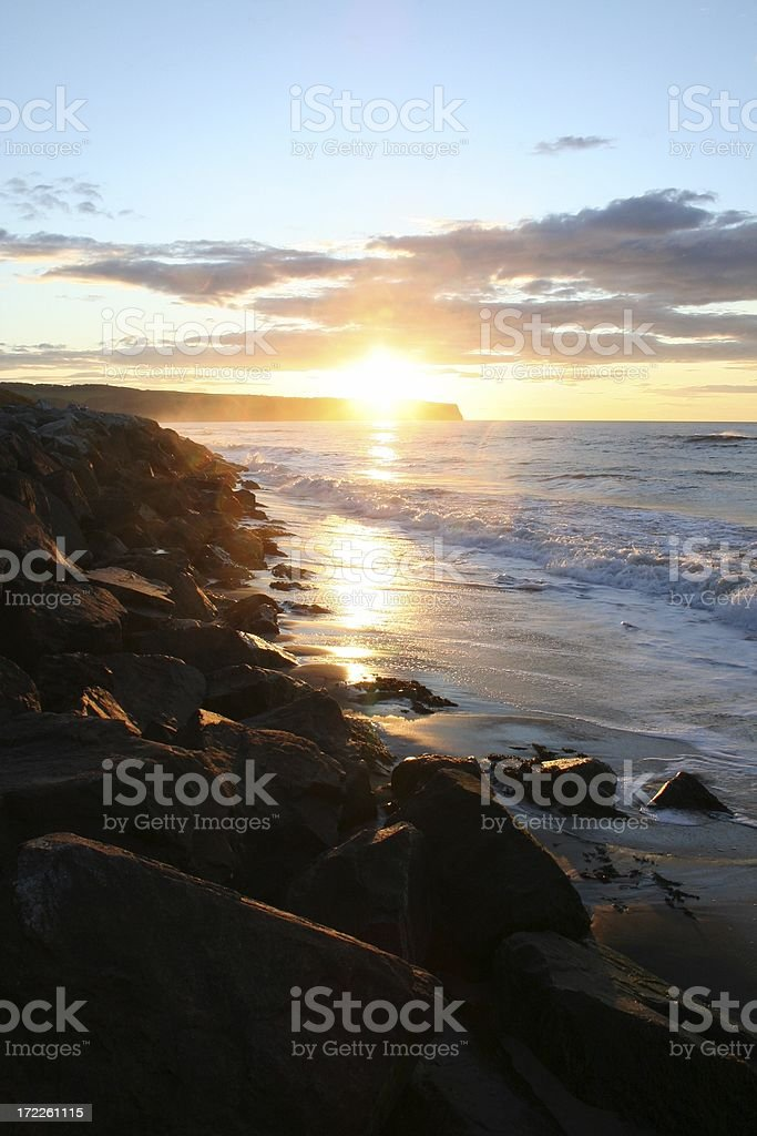North Sea sunset #2 royalty-free stock photo