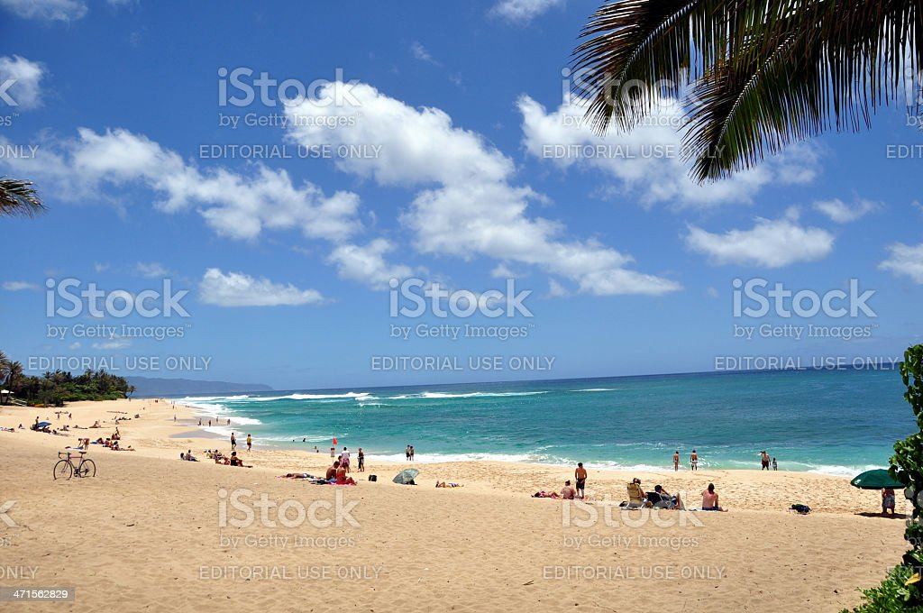 North shore beach royalty-free stock photo