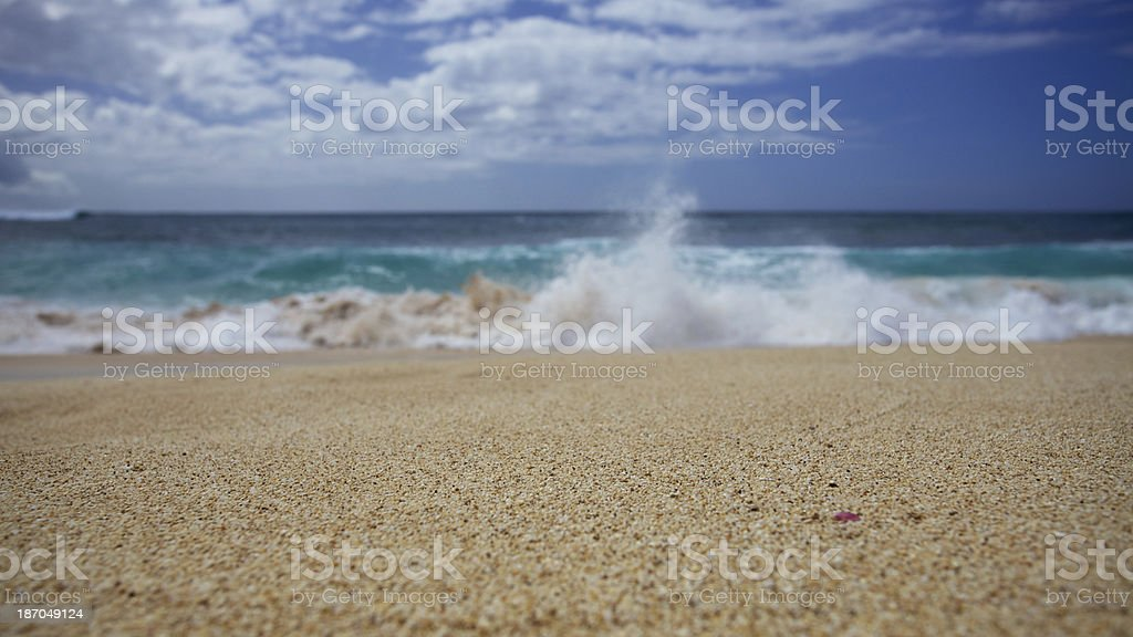 North shore beach sand royalty-free stock photo