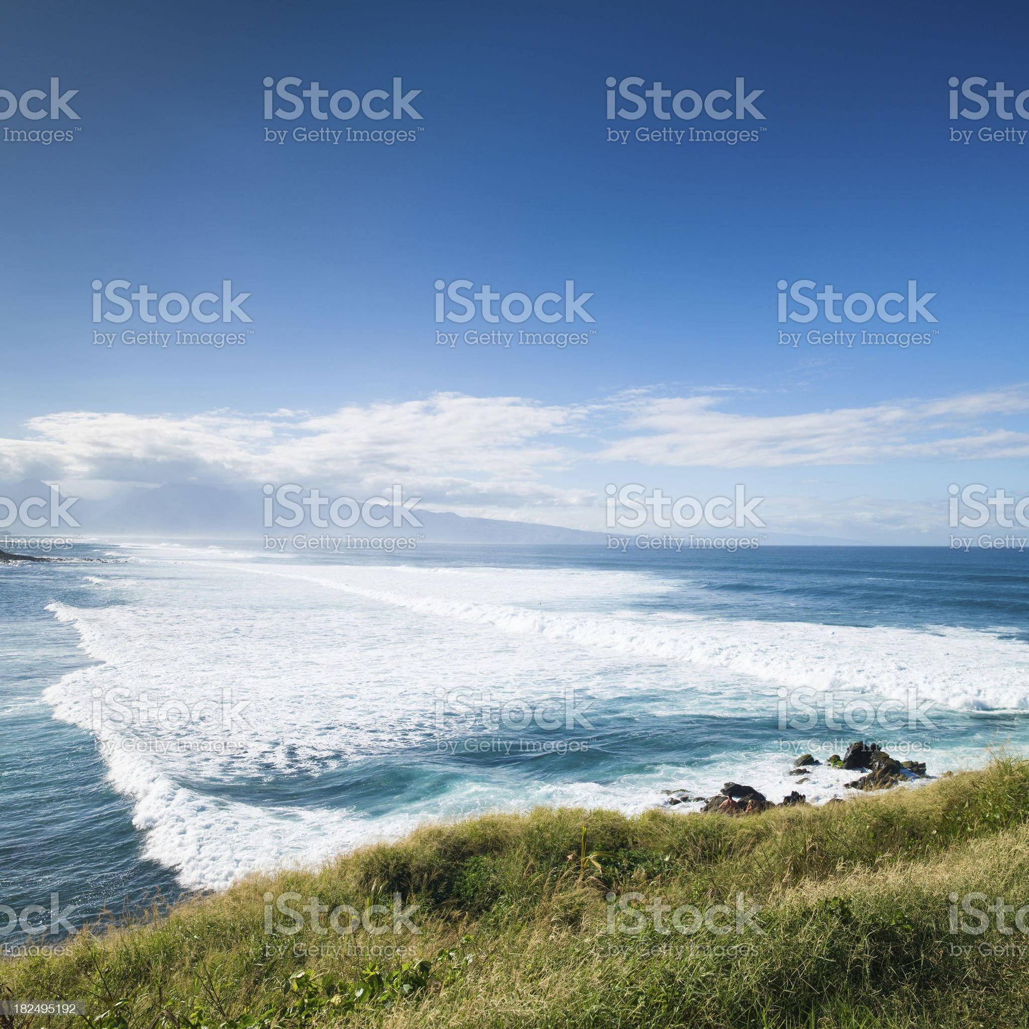North Shore Coast Waves Maui Hawaii royalty-free stock photo