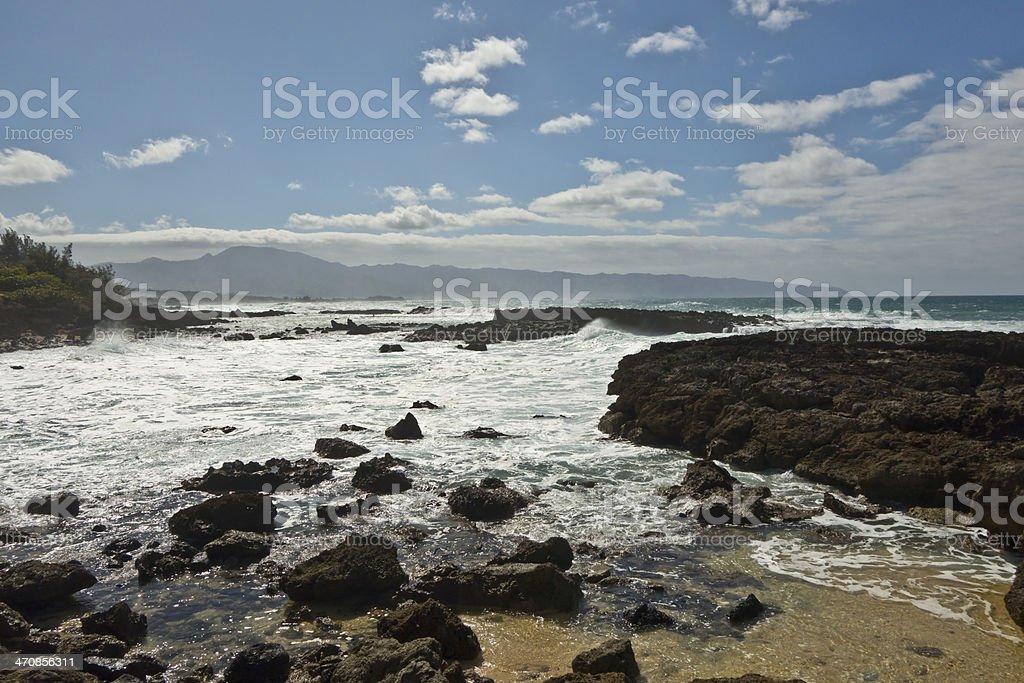North Shore Oahu royalty-free stock photo