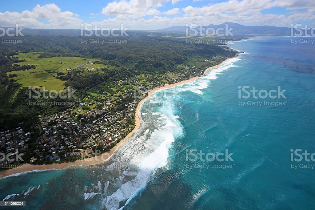 North Shore of Oahu stock photo