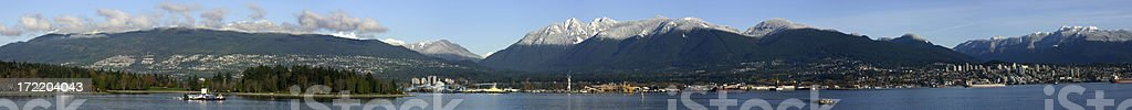 North shore panorama of the Burrard inlet royalty-free stock photo