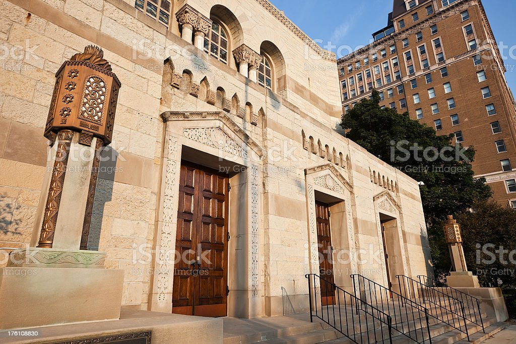 North Side Chicago Synagogue royalty-free stock photo