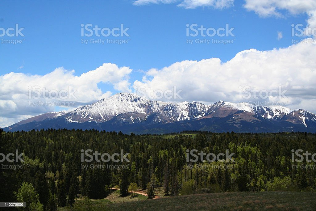 North side of Pikes Peak stock photo