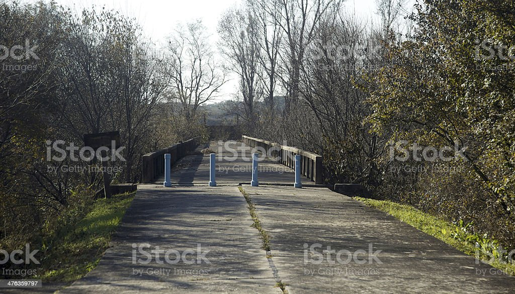 North, South Korea Bridge of No Return stock photo