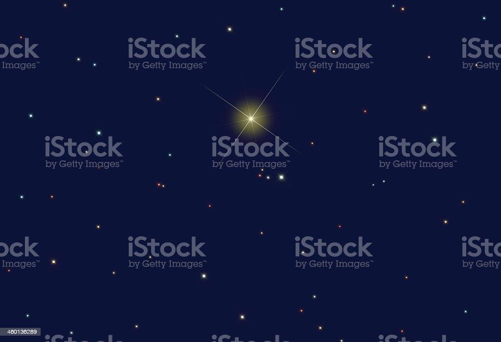 North Star (Star-Shaped) royalty-free stock photo
