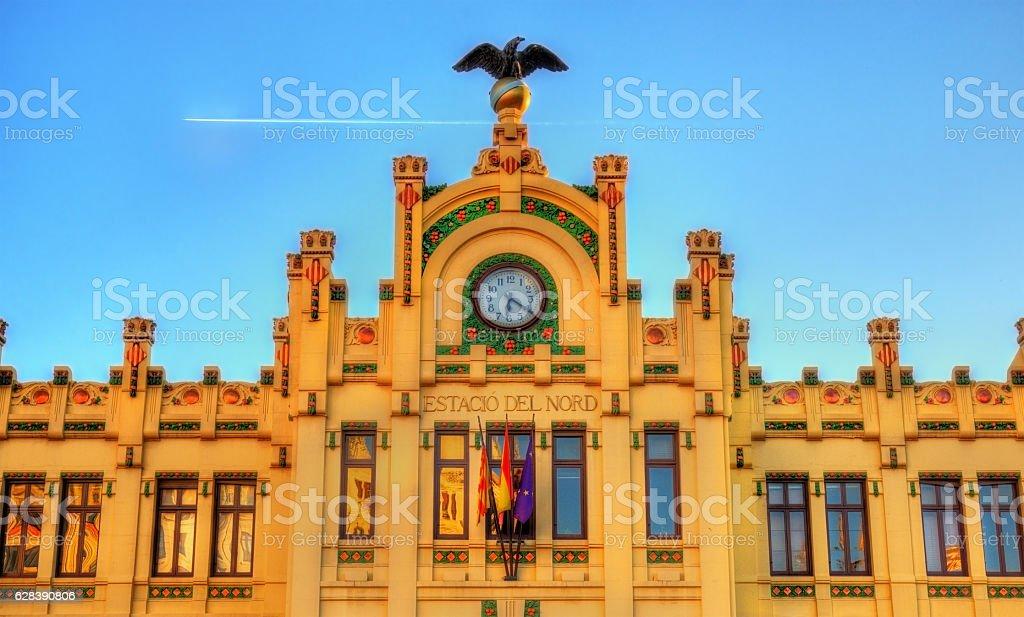 North Station - Estacio del Nord of Valencia, Spain stock photo