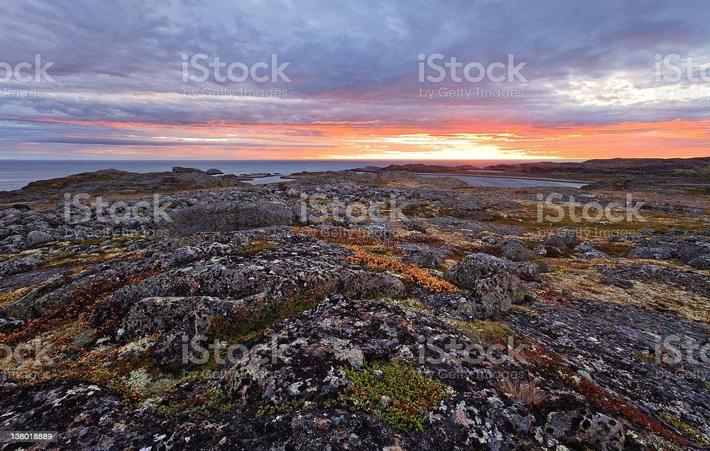 North sunrise stock photo
