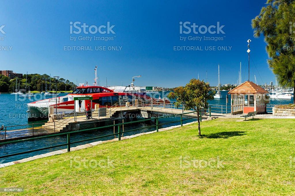 North Sydney Ferry Terminal stock photo
