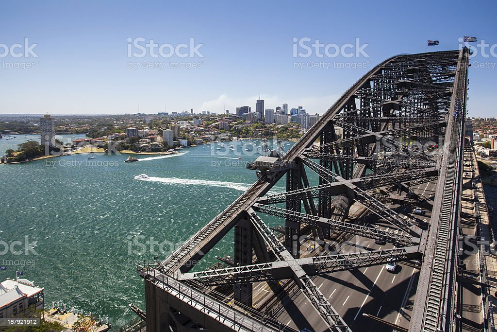 North Sydney from the Harbour Bridge stock photo
