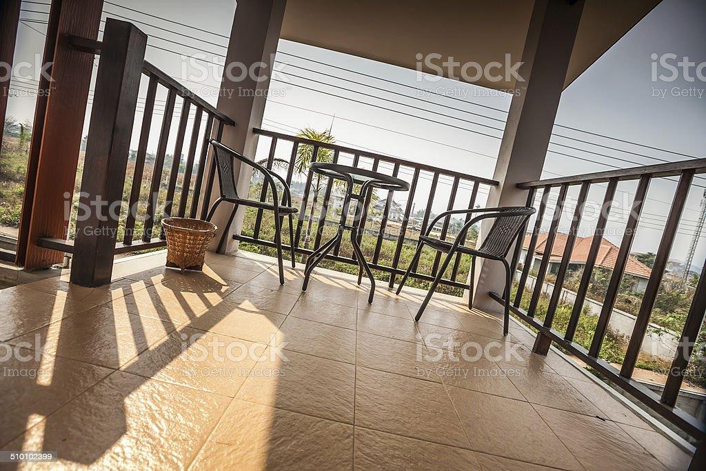North Thailand Neighbourhood Terrace stock photo
