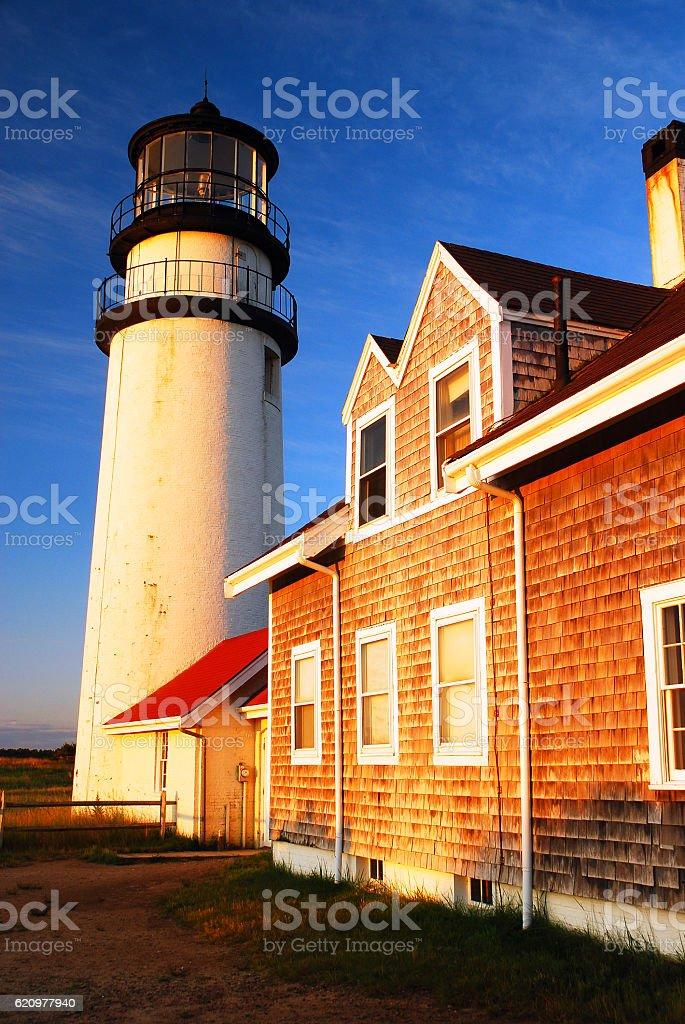 North Truro Lighthouse, Cape Cod stock photo