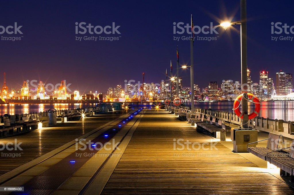 North Van Pier stock photo