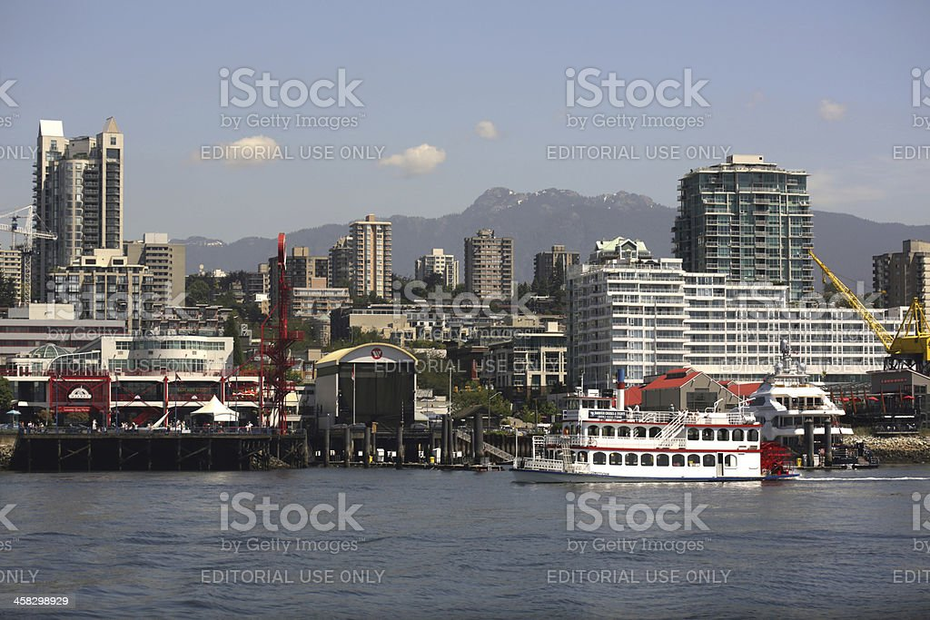 North Vancouver Waterfront and Burrard Inlet in British Columbia, Canada royalty-free stock photo