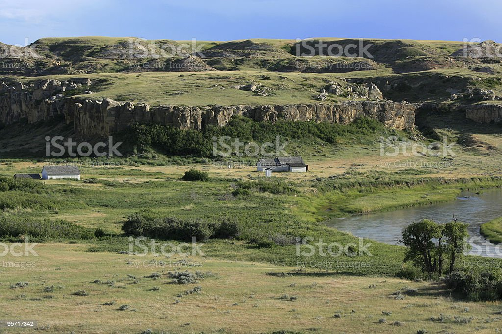 North West Mounted Police Outpost stock photo
