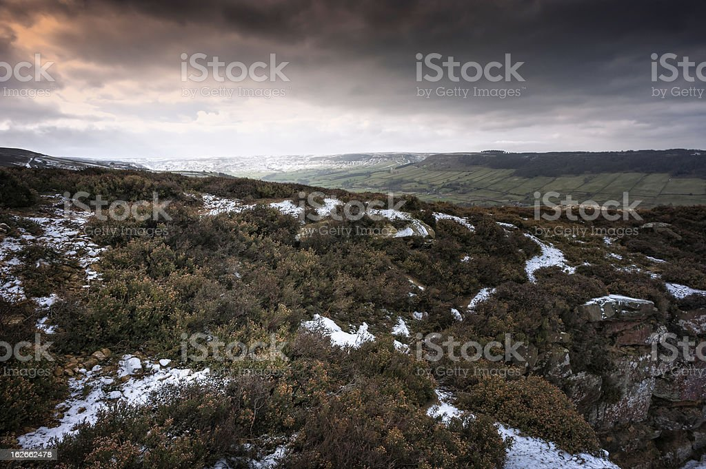 North York Moors in winter, Glaisdale, Yorkshire, UK. royalty-free stock photo