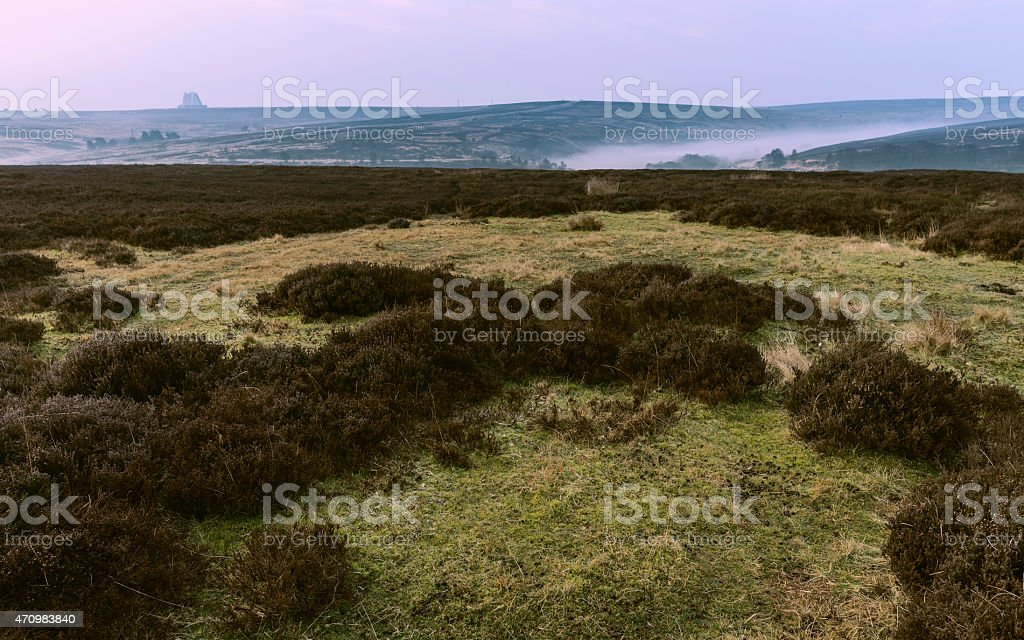 North York Moors National Park as dawn, Yorkshire, UK. stock photo