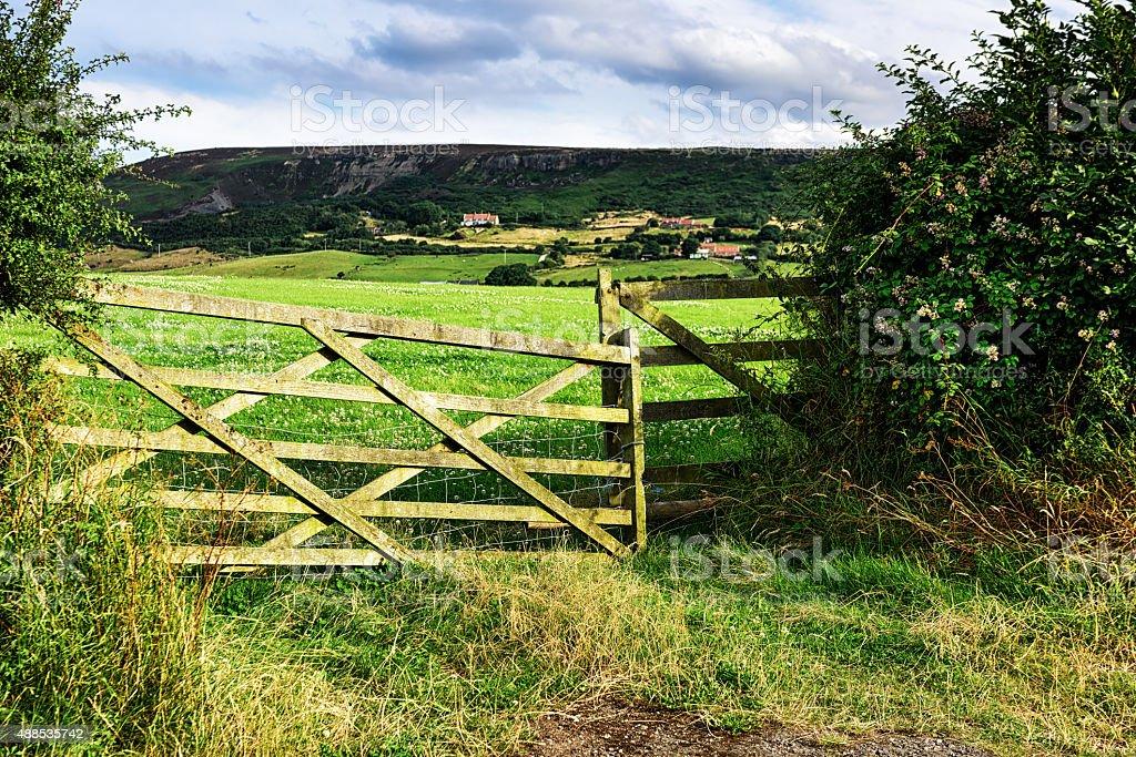 North Yorkshire countryside near Robin Hoods Bay stock photo