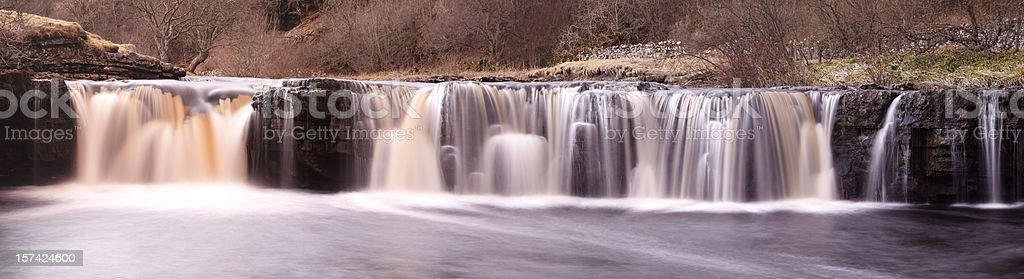North Yorkshire Waterfall royalty-free stock photo