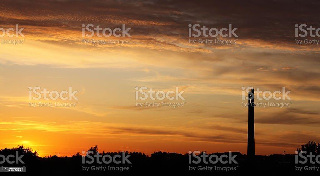 Northampton Townscape Sunset stock photo
