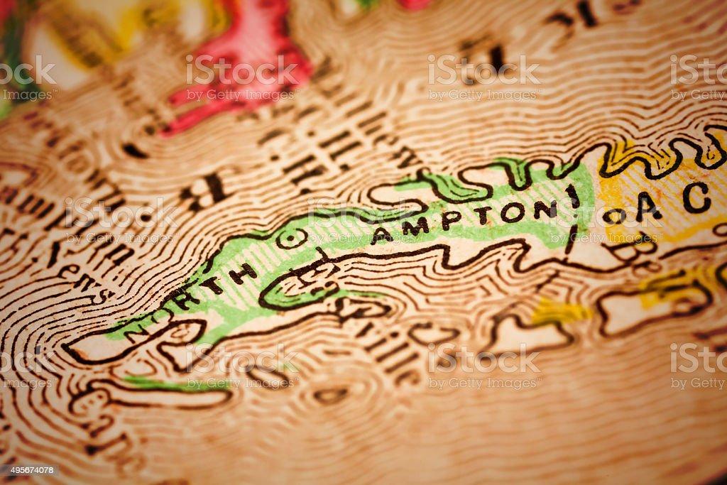 Northampton | Virginia County Maps stock photo