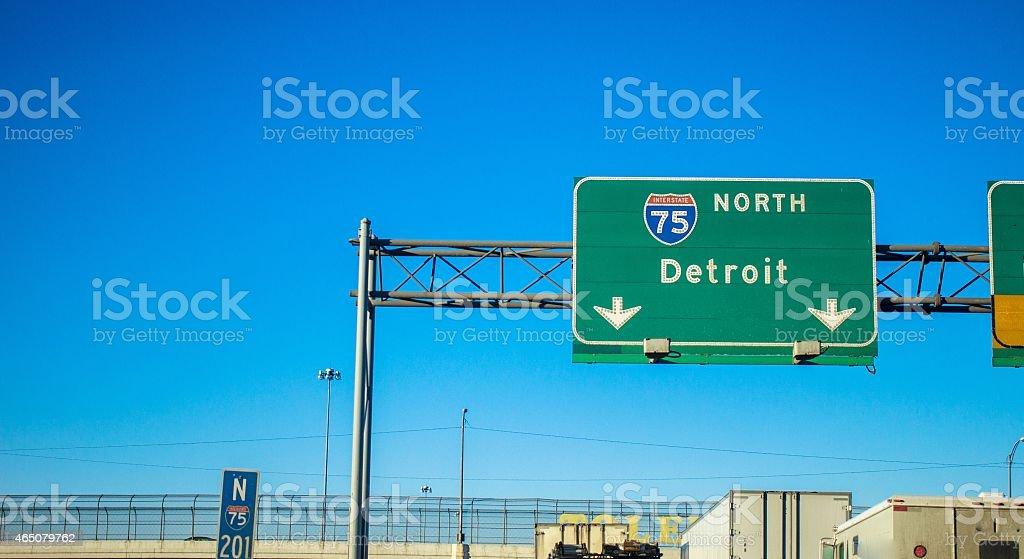 Northbound Interstate 75 stock photo