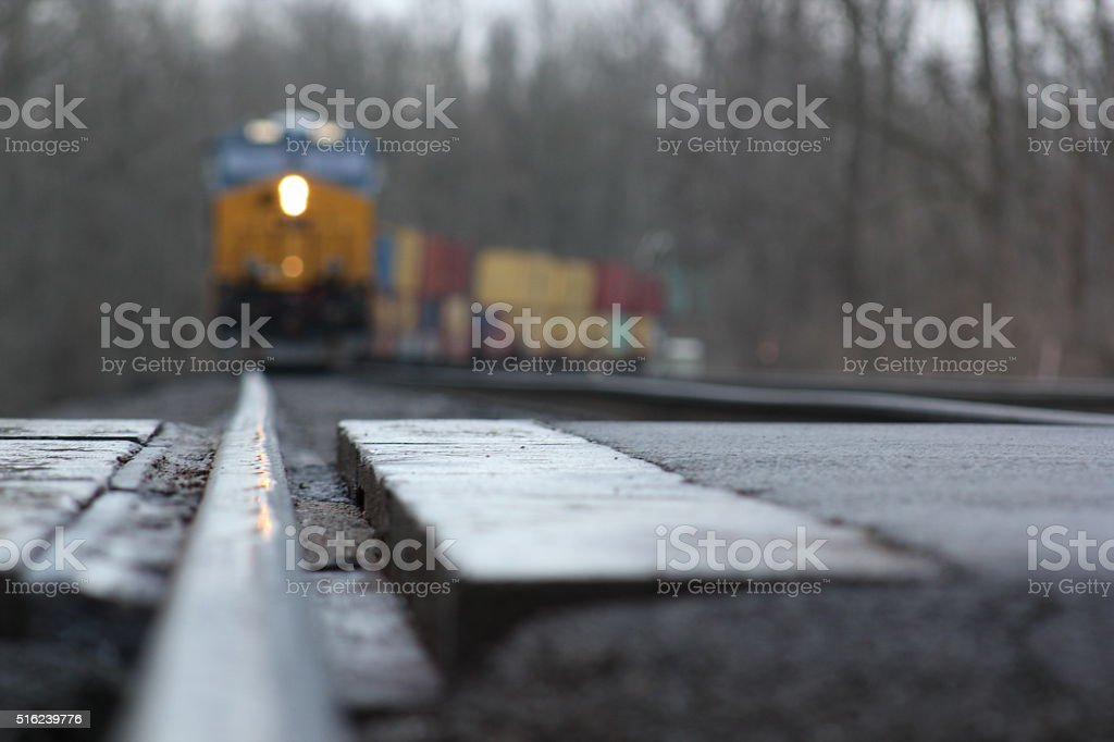 Northbound train stock photo