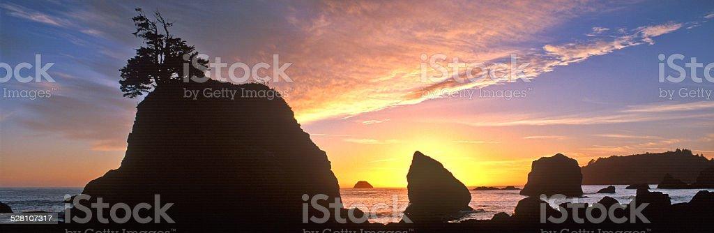 Northcoast Beach Panorama stock photo