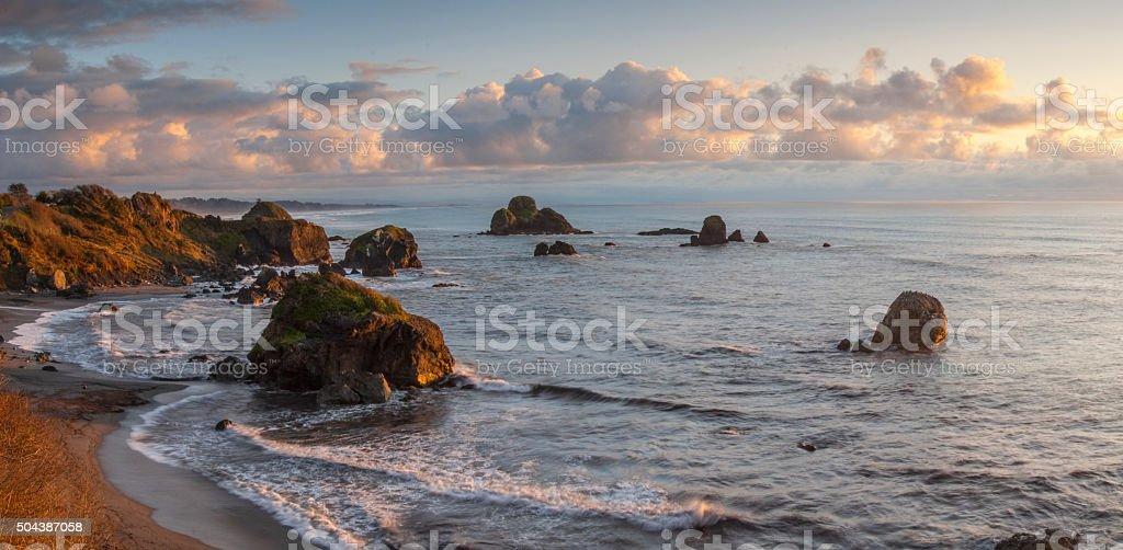 Northcoast panorama stock photo