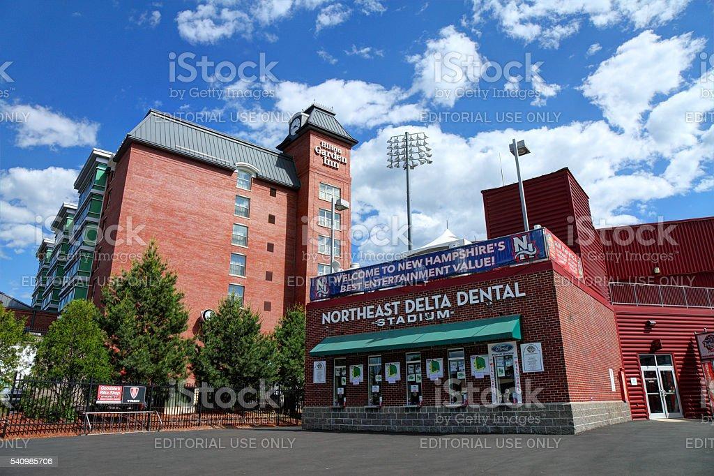 Northeast Delta Dental Stadium in Manchester stock photo