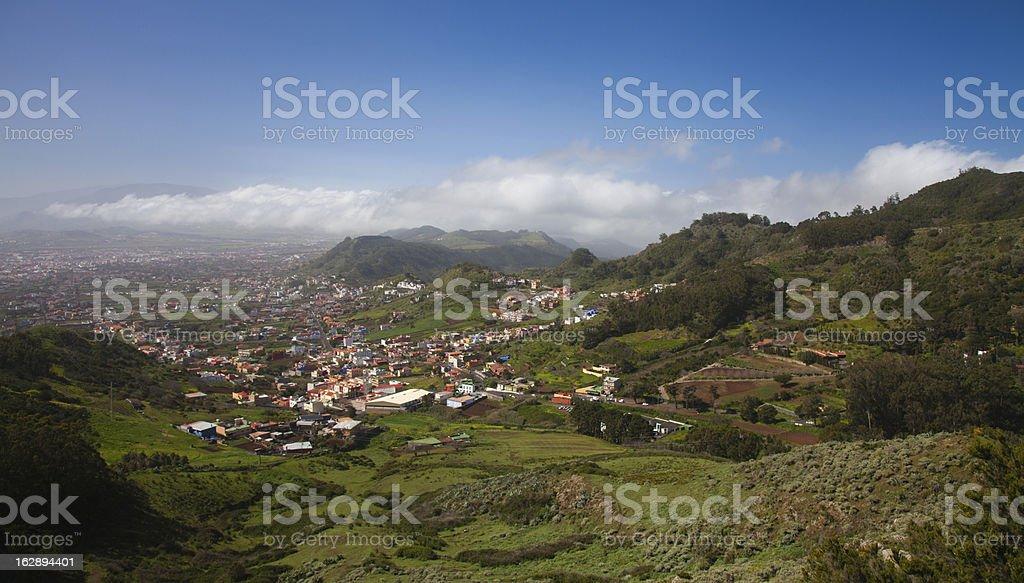 North-east of Tenerife, view from Mirador Jardina royalty-free stock photo