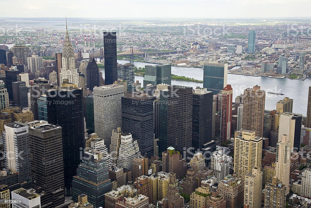 North-East view of Manhattan royalty-free stock photo