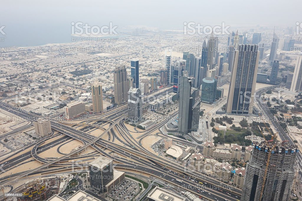 North-Eastern Dubai City stock photo