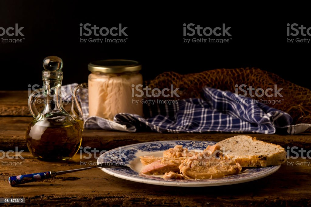 Northern albacore can stock photo