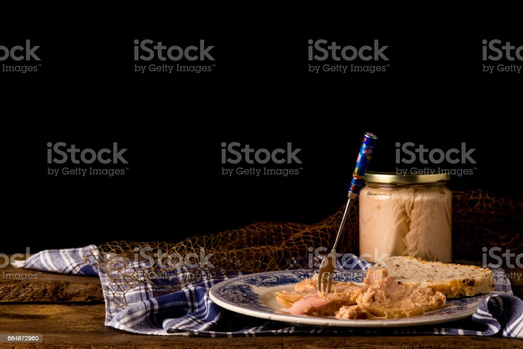 Northern albacore canned stock photo