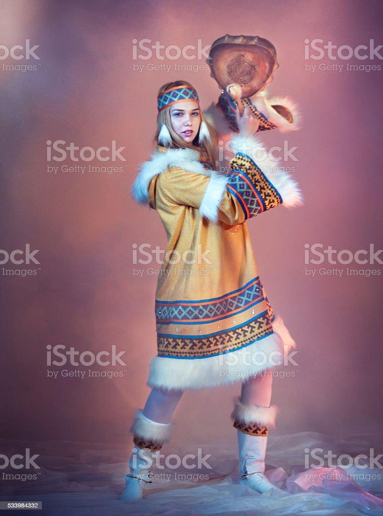 Northern Beautiful Dancer stock photo