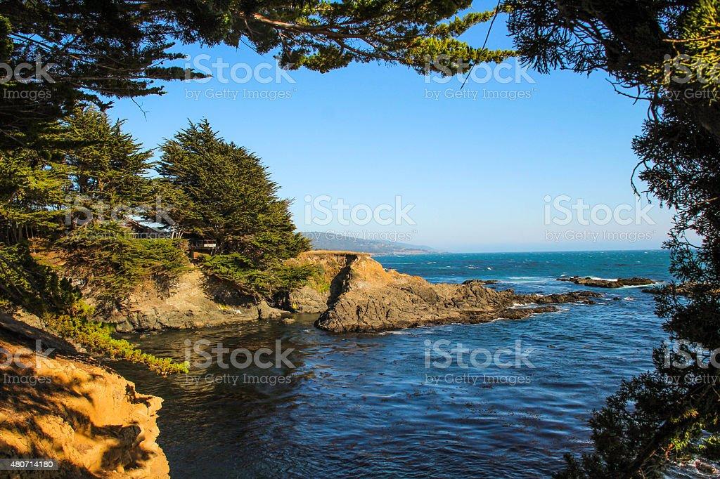 Northern California Coast in Sea Ranch stock photo