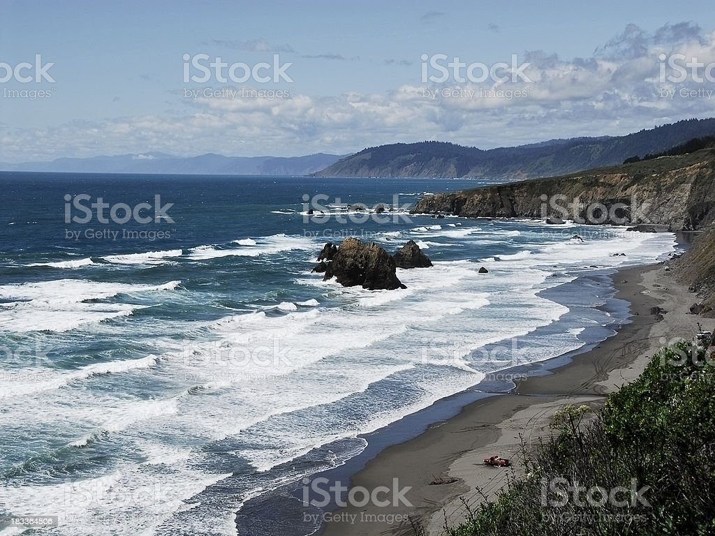 Northern California Coastline royalty-free stock photo