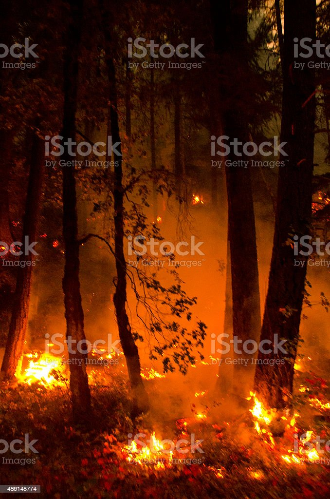 Northern California fire stock photo