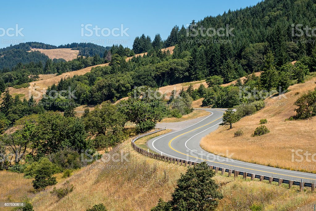 Northern California highway stock photo