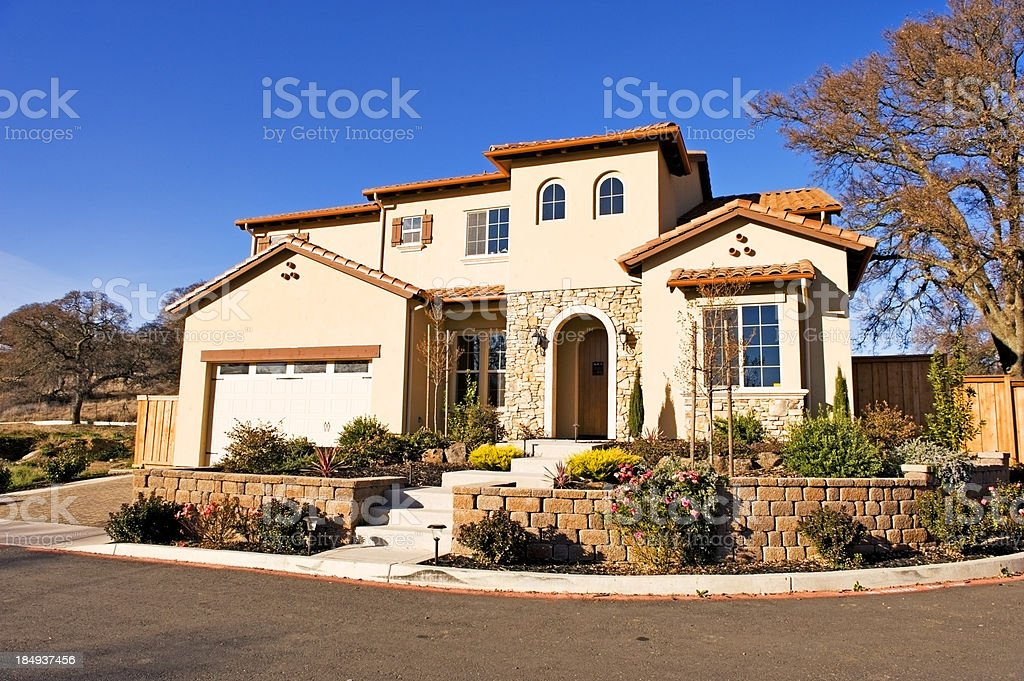 Northern California Home 2 stock photo