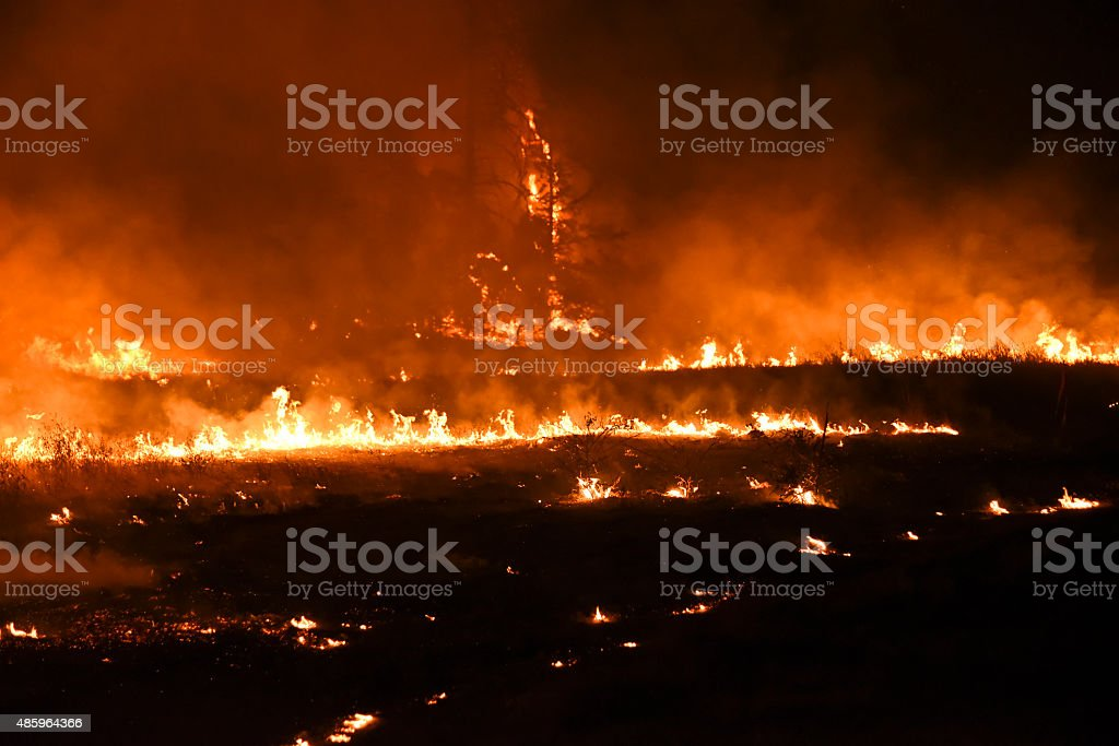 Northern California wildfire stock photo