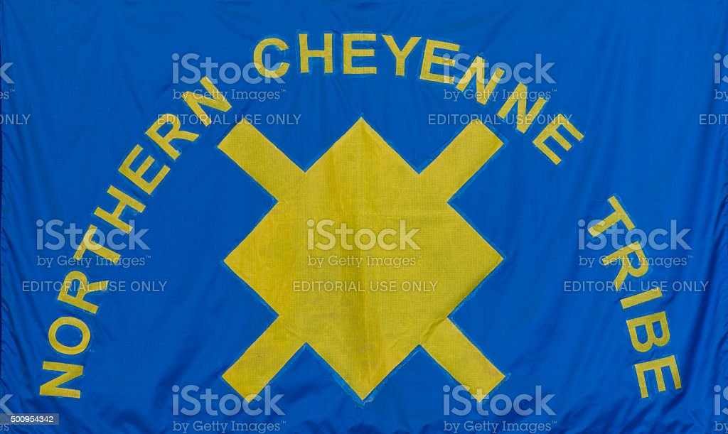 Northern Cheyenne Tribe flag stock photo