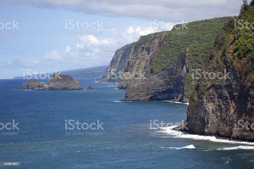 Northern Coast of Hawaii stock photo