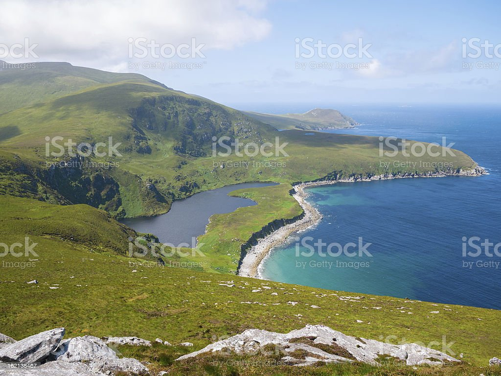 Northern coastline on Achill Island, Ireland stock photo