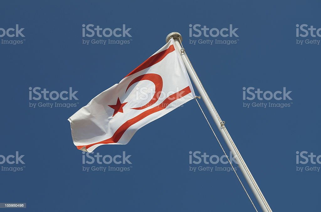 Northern Cyprus Flag stock photo