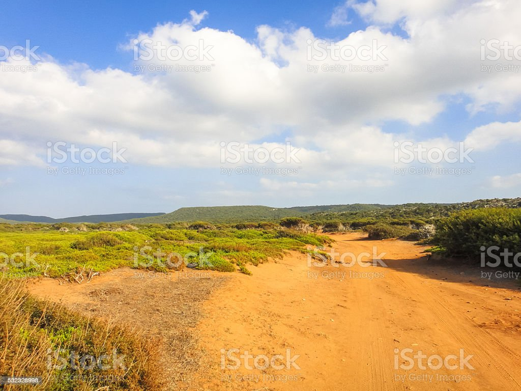 Northern Cyprus valley. Nature. Landscape stock photo