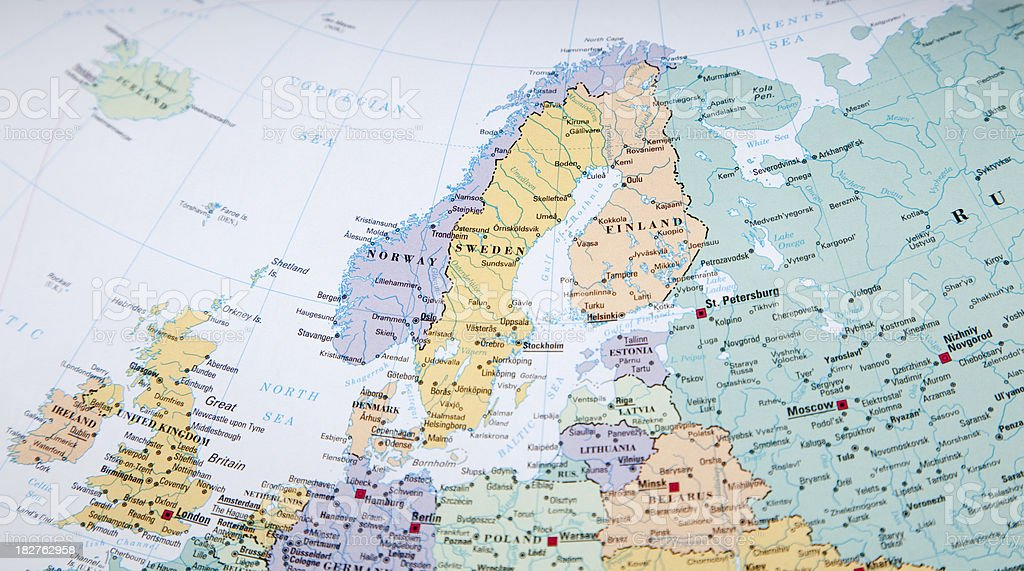 northern europe stock photo
