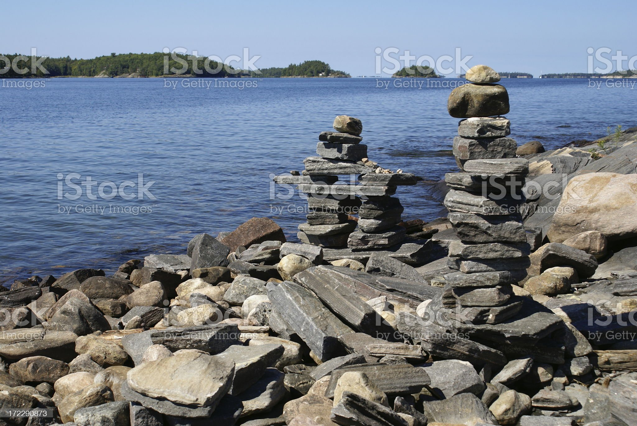 Northern Inukshuk royalty-free stock photo